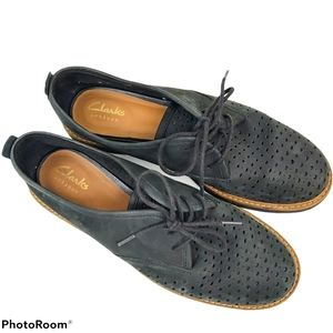 Clarks Artisan Black Darby Oxford Comfort Shoes